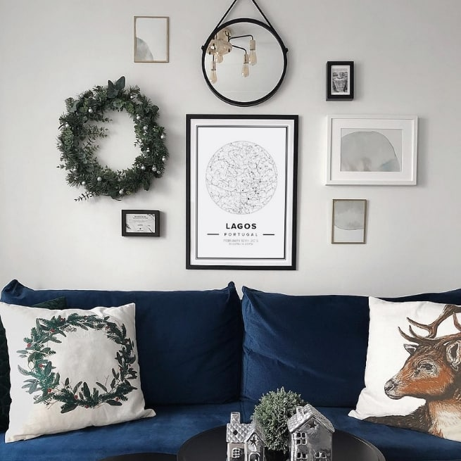 star mapiful in classic, winter gallery wall