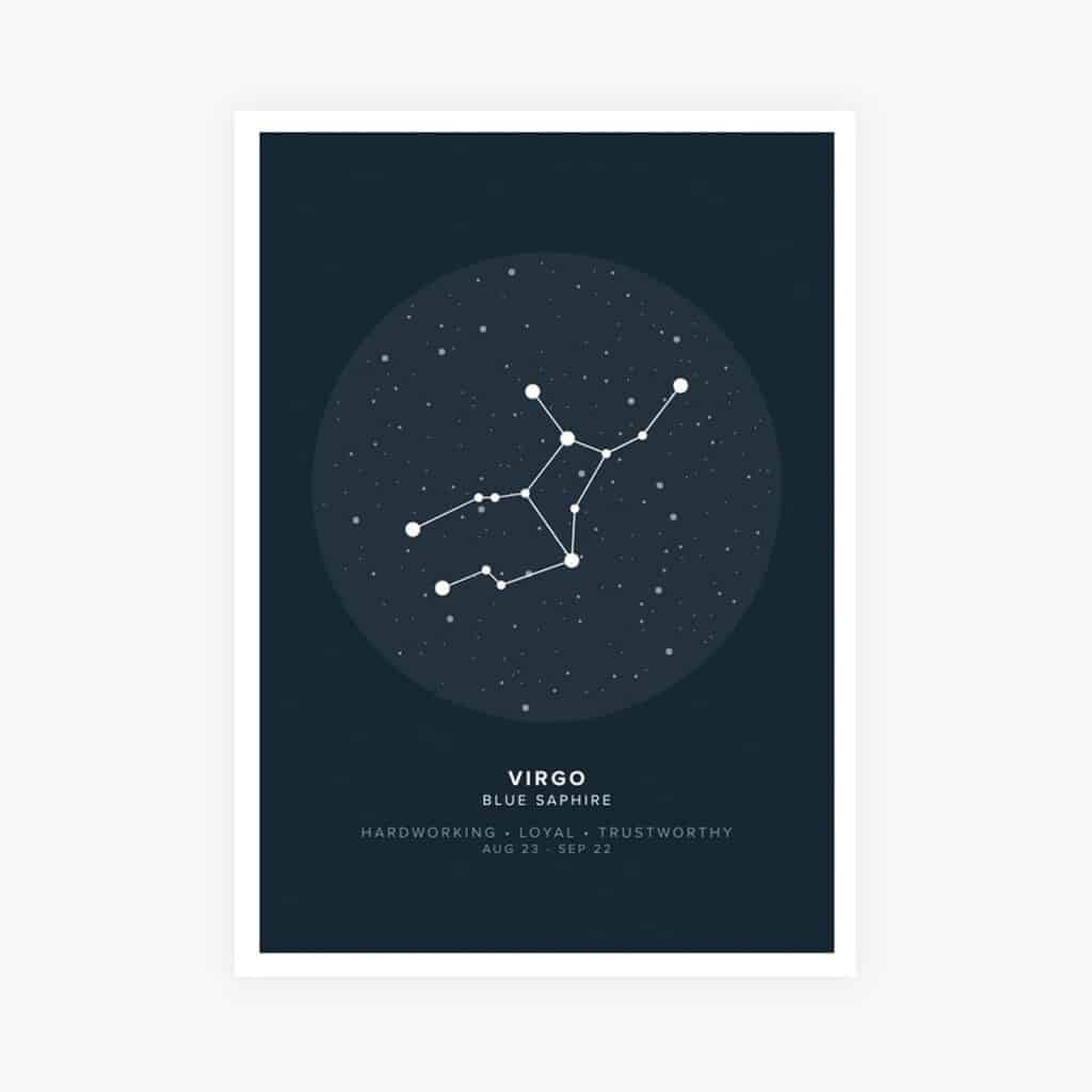 asphalt zodiac poster of virgo